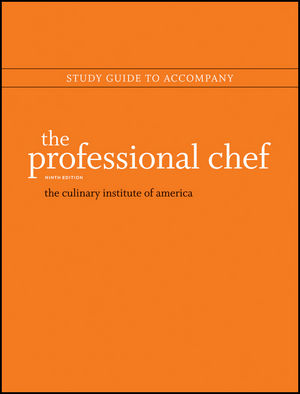 Study Guide to accompany The Professional Chef, 9e (1118139887) cover image