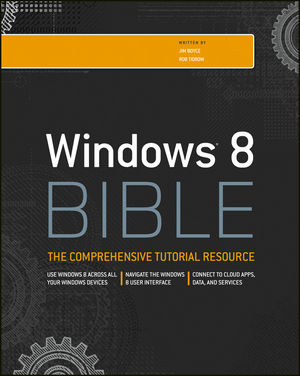 Windows 8 Bible (1118203887) cover image
