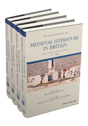 The Encyclopedia of Medieval Literature in Britain, 4 Volume Set (1118396987) cover image