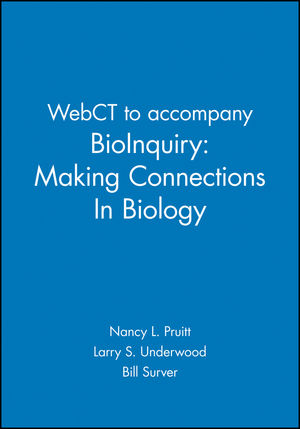 WebCT to accompany BioInquiry: Making Connections in Biology (0471401188) cover image