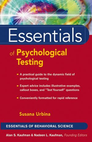 Essentials of Psychological Testing (0471419788) cover image