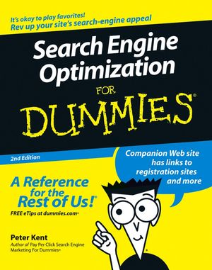 Search Engine Optimization For Dummies®, 2nd Edition (0471979988) cover image