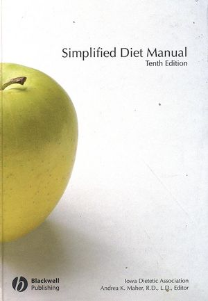 Simplified Diet Manual, 10th Edition (0813818788) cover image