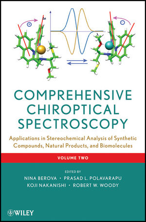 Comprehensive Chiroptical Spectroscopy, Volume 2, Applications in Stereochemical Analysis of Synthetic Compounds, Natural Products, and Biomolecules (1118120388) cover image