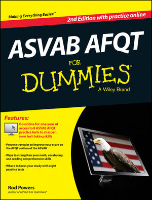 ASVAB AFQT For Dummies, with Online Practice Tests, 2nd Edition (1118817788) cover image