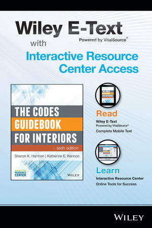 The Codes Guidebook for Interiors, 6e Wiley E-Text Folder and Interactive Resource Center Access Card (1118990188) cover image