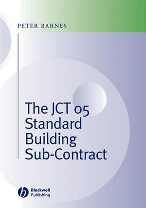 The JCT 05 Standard Building Sub-Contract (1405140488) cover image