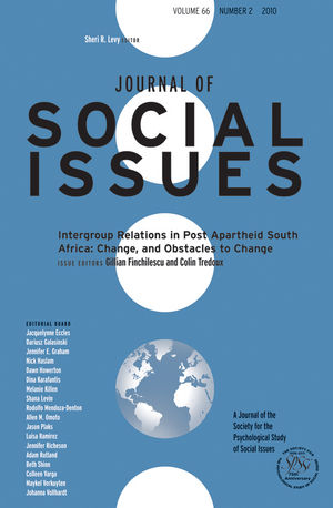 Intergroup Relations in Post Apartheid South Africa: Change, and Obstacles to Change