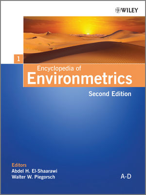 Encyclopedia of Environmetrics, 2nd Edition, 6 Volume Set (0470973889) cover image