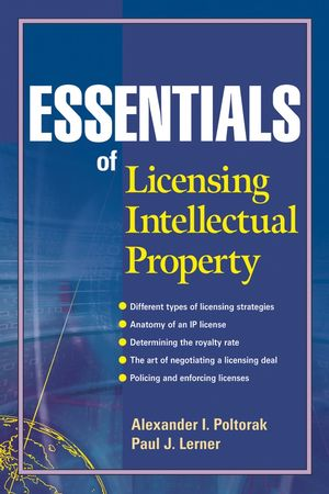 Essentials of Licensing Intellectual Property (0471671789) cover image