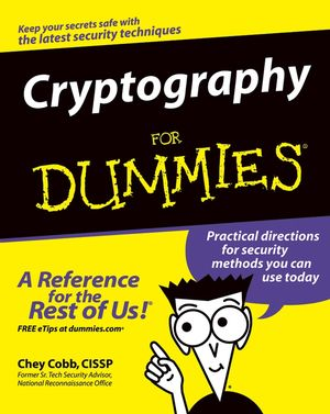Cryptography For Dummies (0764541889) cover image
