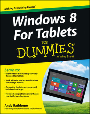Windows For Tablets For Dummies (1118329589) cover image