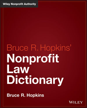 Hopkins' Nonprofit Law Dictionary