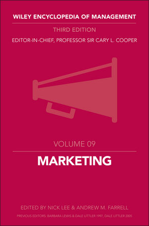 Wiley Encyclopedia of Management, Volume 9, Marketing, 3rd Edition