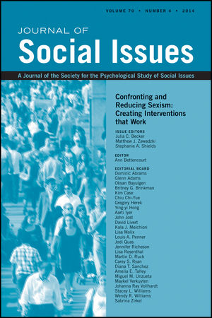Confronting and Reducing Sexism: Creating Interventions that Work
