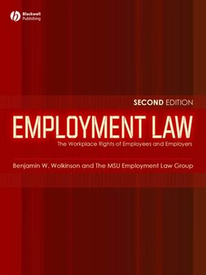 Employment Law: The Workplace Rights of Employees and Employers, 2nd Edition (1405134089) cover image