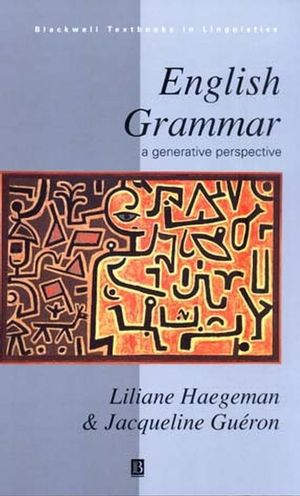 English Grammar: A Generative Perspective (063118838X) cover image