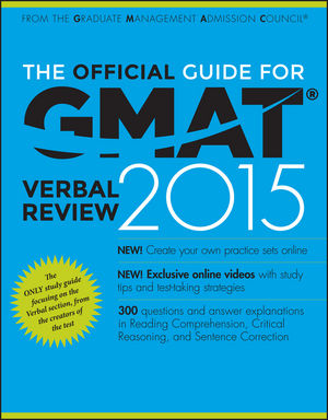 Book Cover Image for The Official Guide for GMAT Verbal Review 2015, With Online Question Bank and Exclusive Video
