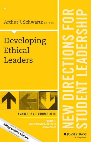 Developing Ethical Leaders: New Directions for Student Leadership, Number 146 (111910078X) cover image