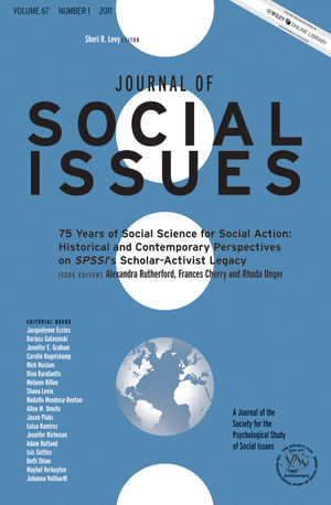 75 Years of Social Science for Social Action: Historical and Contemporary Perspectives on SPSSI