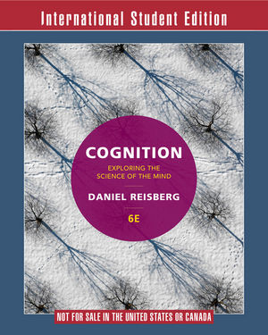Cognition, 6th Edition International Student Edition + ZAPS 2.0 Card +ebook Card