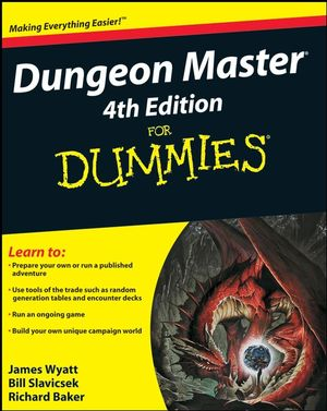 Dungeon Master For Dummies, 4th Edition (0470440090) cover image