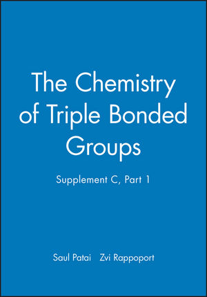 The Chemistry of Triple Bonded Groups, Supplement C, Part 1