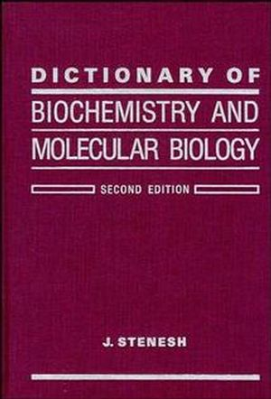Dictionary of Biochemistry and Molecular Biology, 2nd Edition (0471840890) cover image
