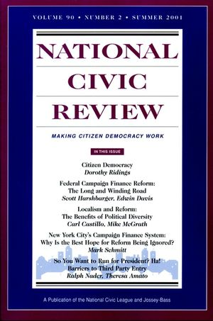 National Civic Review, Volume 90 , No. 2: The State of Politics in America: Issues in Political Reform