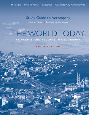 Study Guide to accompany The World Today: Concepts and Regions in Geography, Fifth Edition (1118004590) cover image