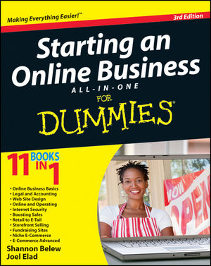 Starting an Online Business All-in-One For Dummies, 3rd Edition (1118123190) cover image