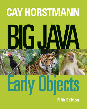 Big Java: Early Objects, 5th Edition (1118545990) cover image