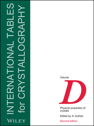 International Tables for Crystallography, Volume D, 2nd Edition, Physical Properties of Crystals (1118762290) cover image