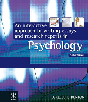 an interactive approach to writing essays and research reports in  an interactive approach to writing essays and research reports in psychology 3rd edition