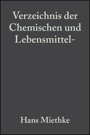 Verzeichnis der Chemischen und Lebensmittel- Untersuchungsämter in der Bundesrepublik Deutschland, 3. Auflage (3527624090) cover image