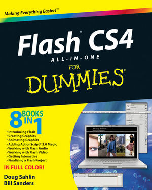 Flash CS4 All-in-One For Dummies (0470385391) cover image
