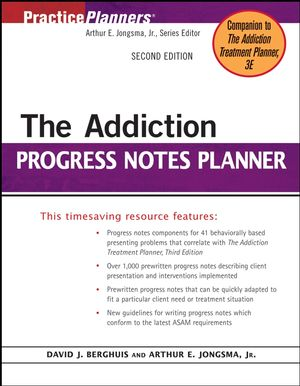 The Addiction Progress Notes Planner, 2nd Edition (0471771791) cover image