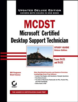 MCDST: Microsoft Certified Desktop Support Technician Study Guide: Exams 70 - 271 and 70 - 272, Deluxe Edition (0471789291) cover image
