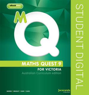 Maths Quest 9 Australian Curriculum Victorian Edition ebookPlus (Online Purchase)