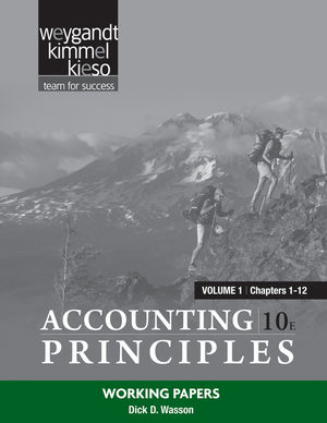 Working Papers Volume 1 (Chapters 1-12) to accompany Accounting Principles, 10e (1118066391) cover image