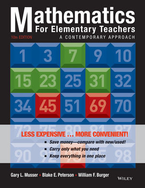 Mathematics for Elementary Teachers: A Contemporary Approach 10e Binder Ready Version + WileyPLUS Registration Card