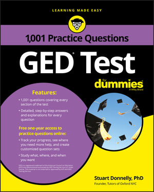 1,001 GED Practice Questions For Dummies (1119300991) cover image