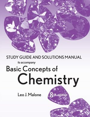Basic Concepts of Chemistry, Student Study Guide, 8th Edition