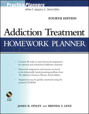 Addiction Treatment Homework Planner, 4th Edition (0470498692) cover image