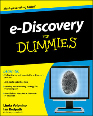 e-Discovery For Dummies (0470584092) cover image