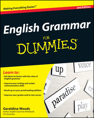 English Grammar For Dummies, 2nd Edition (0470635592) cover image