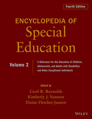 Encyclopedia of Special Education: A Reference for the Education of Children, Adolescents, and Adults Disabilities and Other Exceptional Individuals, Volume 2, 4th Edition (0470949392) cover image