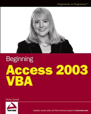 Beginning Access 2003 VBA (0764556592) cover image