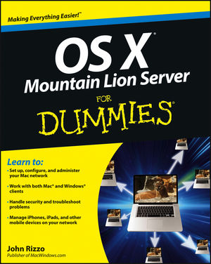 OS X Mountain Lion Server For Dummies (1118408292) cover image