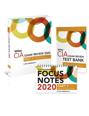 Wiley CIA Exam Review 2020 + Test Bank + Focus Notes: Part 1, Essentials of Internal Auditing Set